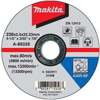 MAKITA A-85335 Kotouč řezný kov 230x2,5x22 A30R-BF(7818577)