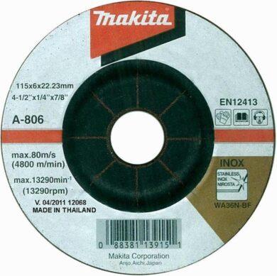 MAKITA A-80656 Kotouč brusný 125x6 na nerez(7897033)