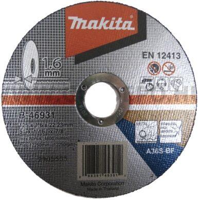 MAKITA B-46931 Kotouč řezný kov 125X1,6X22,23 A36S-BF(7903024)