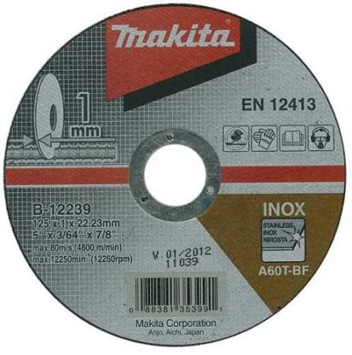 MAKITA B-12239 Kotouč řezný nerez 125X1X22,23 A60T-BF(7903430)