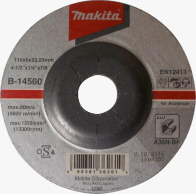 MAKITA B-14560 Kotouč brusný 115x6 na hliník(7910350)