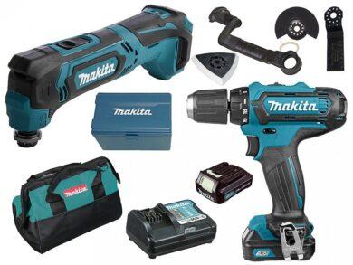 MAKITA CLX206X2 Set nářadí 10,8V DF331DZ+TM30DZ+2xaku 1,5Ah+taška(7911281)