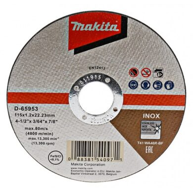 MAKITA D-65953-12 Kotouč řezný INOX 115x1,2mm v boxu (12ks bal.)(7914252)
