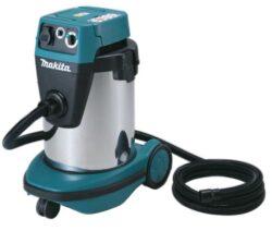 MAKITA VC3210LX1 Vysavač nerez 1050W 32litrů 14,5kg-Vysavač pro suché i mokré vysávání s regulací sacího výkonu, automatickým čištěním filtru