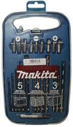 MAKITA P-44002 Sada vrtáků a nástavců 22dílná-Sada vrtáků do kovu, kamene, dřeva + bity - 22 ks