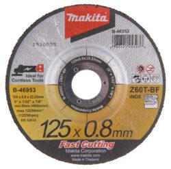 MAKITA B-46953 Kotouč řezný kov 125X0,8X22,23 Z60T-BF                           -Kotouč řezný kov 125X0,8X22,23