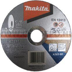 MAKITA B-46931 Kotouč řezný kov 125X1,6X22,23 A36S-BF                           -Kotouč řezný kov 125X1,6X22,23
