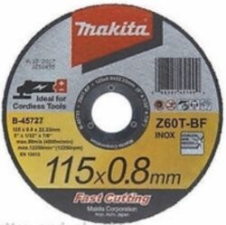 MAKITA B-46947 Kotouč řezný kov 115X0,8X22,23 Z60T-BF-Kotouč řezný kov 115X0,8X22,23 Z60T-BF