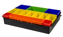 MAKITA P-83652 Vložka systaineru na drobný mat. s boxy-Vložka systaineru na drobný mat. s barevnými boxy