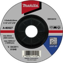 MAKITA A-80927 Kotouč brusný 115x6 na ocel-Kotouč brusný 115x6 na ocel