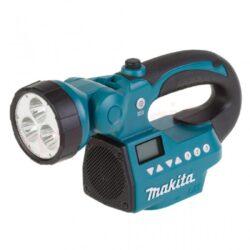 MAKITA DMR050 Aku přenosné rádio s LED lampou 14,4V/18V (bez aku)-Aku přenosné rádio s LED lampou 14,4V/18V (bez aku)